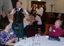 Clan Davidson member addressing the Gathering
