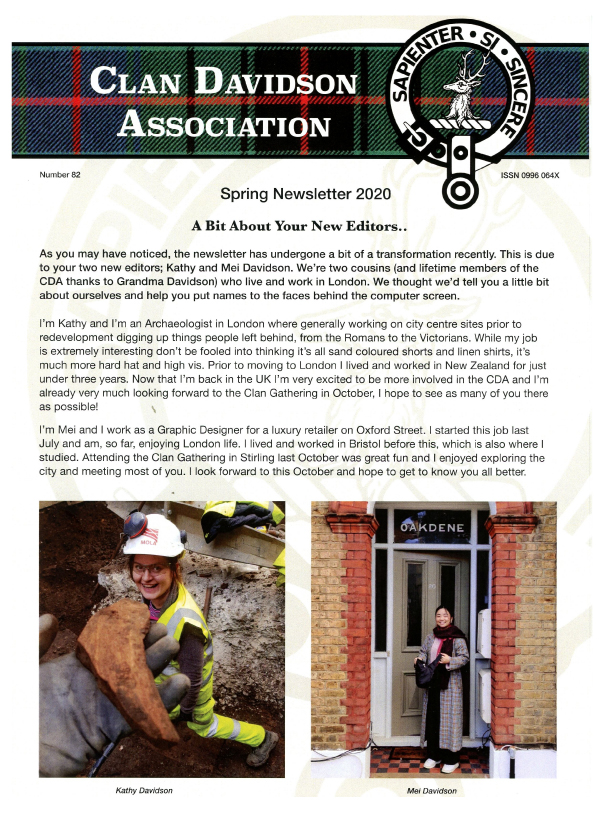 Clan Davidson Association Newsletter 2019